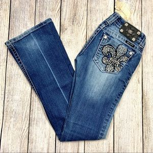 Miss Me   Embellished Boot Cut Jeans #JP6126B